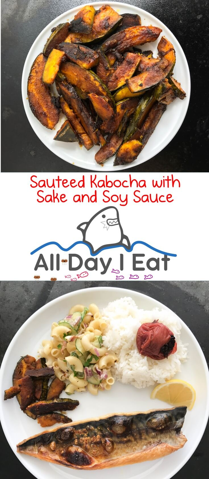 Sauteed Kabocha with Sake and Soy Sauce. Japanese pumpkin that is easy to prepare and tastes delicious! | www.alldayieat.com