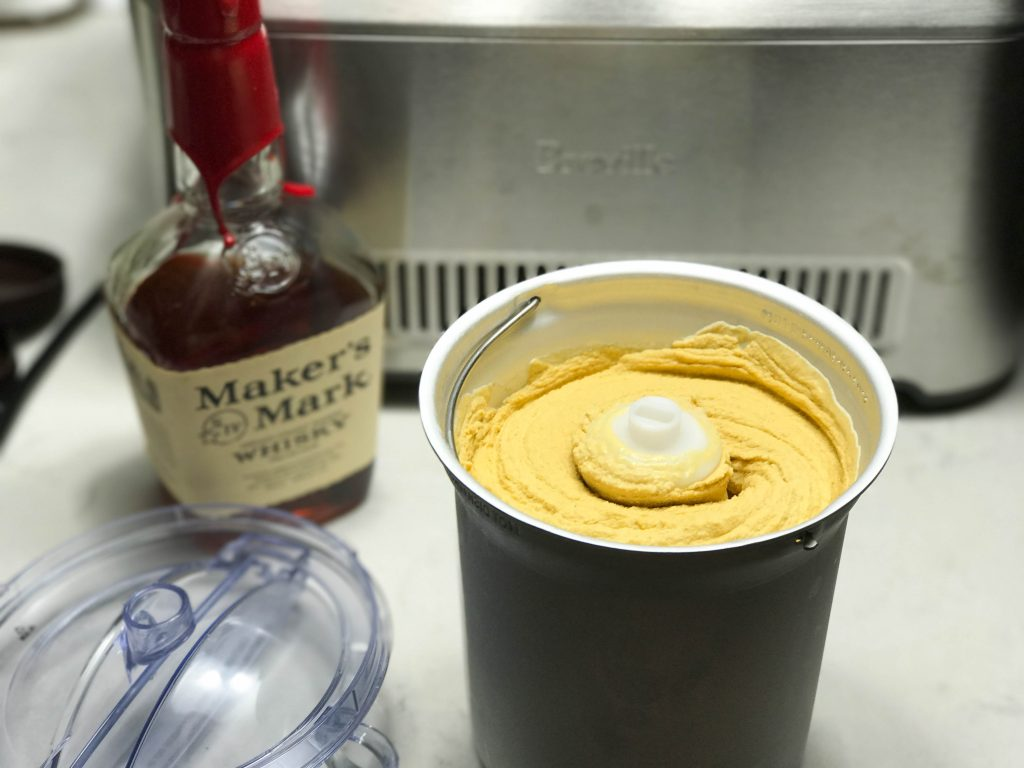 Spiced Pumpkin Ice Cream with Bourbon | www.alldayieat.com
