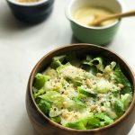 Romaine Salad with a Creamy Roasted Garlic Dressing