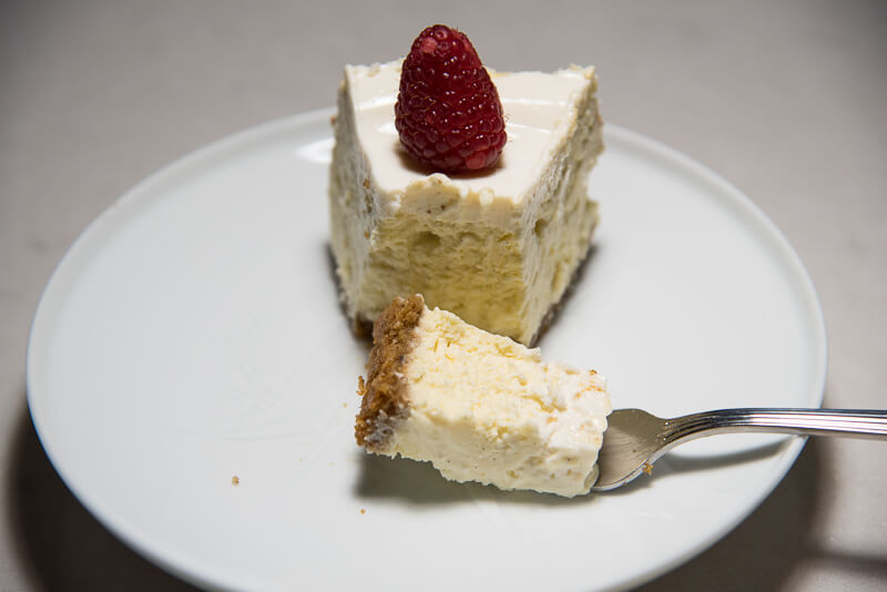 vanilla bean cheesecake walnut crust bite